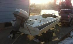 1968 Boat with a 40hp Evinrude motor and trailer >Great boat no leaks great for fishing used a few times this year, looking for 1000 or best offer want gone now, make us an offer all offers will be considered motor has had tune up and lots of parts