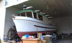 40' x 11' Pelagic Custom Fibreglass Hull 5' draft Built in 1971 GM V6-53 Detroit Diesel 140 HP 200 Imperial Gallon Fuel Tank: Factory Installed 300 Imperial Gallon Water Tank: Pressurized on Demand Jabsco Electric Pump; Welded Stainless Steel Cruising