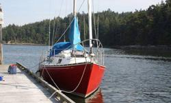 Awesome sailboat with pretty lines. Great preformer! Well maintaine with loads of upgrades.Newer yanmar inboard deisel (800hrs), new refridgeration, 2 burner ss propane stove and oven, new hot & cold pressure water, cockpit shower, new auto helm, new
