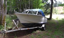 We are selling our 1974 17' Thermoglass boat. this boat includes a 100HP Marnier oil injected outboard with SS propeller with 9.9 evinrude re-done top to bottom. Both motors run excellent. New eagle fish finder and boat top in excellent condition. All