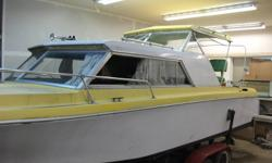 1974 fiberform  26' ,  350 engine volvo leg, head and galley and sleeping for 4.... good overall condition , recently had it tuned up and mechanically looked at. everything seems to in working order ... also recently cut and polished ( pictures were taken