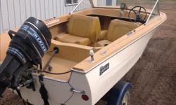 17ft.boat. 50 hp. Motor. Comes with 2 batteries,one is brand new. Trailer has 2 new tires. All in very good condition.