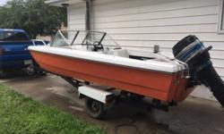 Boat, original 85HP Mercury motor and ez loader trailer. New easy grease trailer axle installed this winter, newer trailer lights and wiring and winch. Motor starts on first try, very reliable. Lower leg/ transmission was rebuilt two years ago, reverse