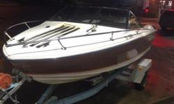 http://www.youtube.com/watch?v=4vP77LedWT0 I am selling my 1976 Reinell, Beautiful boat!! Had it out all summer. This boat is an in board out board with a 289ci with optional horse power settings. 170ci or 190ci. Runs great, and we pulled the kids around