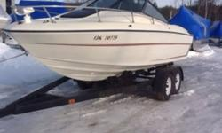 This is an older boat, good overall condition, some signs of age. Has a. Mercruiser 5.0L 198 hp. Price does not include trailer or taxes Call Mobile Marine for more details 705-789-3932 This ad was posted with the Kijiji Classifieds app.