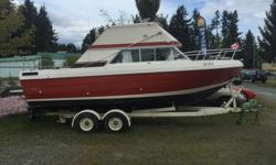 On Consignment To Us. Many New Parts,350 V8, MerCruiser Leg, Runs Good,For Sale At Five Star Auto Sales In Parksville On The Alberni Hwy (Across The Coop Gas Station) DL#08726 Open Monday To Saturday 9 To 5 Please Call Before Coming 1-250-248-8311 Or Cell
