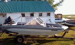 tri hull. open bow. 90 hp merc. trailer newly wired and new lights. good condition. needs tune up and battery. eagle fish finder. always shedded.
