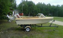 1979 Anchor 16' Ski Boat. 1986 Johnson 75 HP Motor Caulkins Roller Trailer   Boat is in good conditions, no cracks, Motor recently services, runs great. Trailer has new tires, bearing and bearing savers. Hummingbird Fish Finder and new battery. Make me an