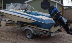 "Selling my 1908""s Glaston boat with a 90hp merc motor is torn apart and needs work boat is in great shape comes with a 2003 ez loader trailer ( trailer is worth more than what I am selling the package for ! 800"