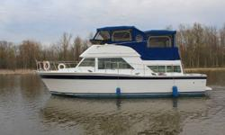 38'  with a 14' beam. This boat went through a $35,000 upgrade 3 years ago. It included the whole boat being painted ( non-slip paint on the walk ways ), new windless anchor system and spot light, rebuilt generator, new fittings, new marine radio. It has
