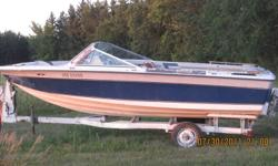 1980 Invader 175 OMC inboard needs interior repair and TLC Runs and drives carb rebuilt comes with trailer 18'