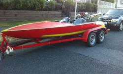 350 CI V8 with all the power you need to tow or go have fun this summer 14 foot fiberglass boat and trailer.This is one cool cruiser in running order $5,000 .located in Vancouver BC