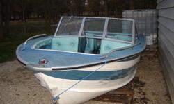 1980 Sylvan aluminum boat open bow walk through windshield good condition seats 6 people no motor no trailer asking $1050.00 obo phone 1-204-482-7350 lockport