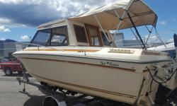 This is a great family boat or comfortable well equipped fishing machine. The boat is well built with a solid hard top, and opening center pane in the windshield to allow safe and easy access to the forward deck for anchoring or relaxing in the sun. This