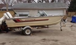 1983 Starcraft 90 HP Johnson engine Minn Kota trolling motor 5 HP Johnson Gas powered kicker engine Hummingbird Fish Finder 2015 Starting Battery Brand new Prop Spare tire for boat trailer If any questions please email