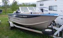 For sale 1984 Sylvan 18ft with a 125hp Force and a 9.9hp Mariner. It comes as a package 1984 Sylvan, 2 Motors and a 1988 Trailer. The boat is in exellent condition. Has a fishfinder and livewell. Has 4 new pedestal seats. Call or email. 1-204-326-3706