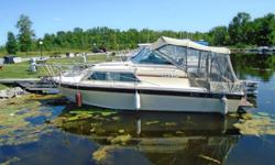 "1985 ChrisCraft 253 AC Description: This ChrisCraft 253 AC is in good condition and has a very well laid out cabin and cockpit. It has an overall length of 27' with a beam of 9'9"" which allows for comfort and ease during a relaxing day with the family and"