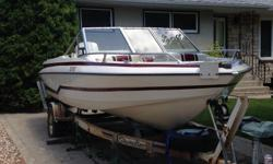 1985 150hp Johnson motor, tarp is new (2 yrs old) 1985 Shoreline trailer included