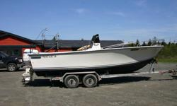 23' SEACRAFT C.C. Superfisherman, 1994 225 Hp Evinrude Ocean Pro, Easy loader dual axle galvanized trailer, boat is in very good shape, lot's of deck space, 140 gallon fuel tank, compass, Icom VHF, Sitex plotter. $9500.00 Lunenburg 902-527-7175