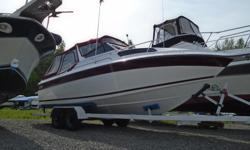 1986 Peterborough 250 Constellation Great Entry level Cruiser, many upgrades with some work remaining. Features include a sink, fridge, camp style stove, new full camper top, stereo, fenders & lines, depth finder, onboard charger and three lifejackets.