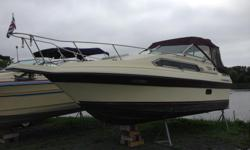 This 1986 has a well working Mercruiser 5.7L Alpha One Drive, coming with canvas and shorepower as well. Boat is at our Kingston location. Please call 1-888-212-9289 for more information and to schedule a viewing.