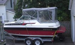 24' IMPERIAL CRUISER & TRAILER   - Extra Heavy Duty Trailer - 2 yr. old canvas - 350 Merc Motor - Sleeps 4 in cabin - Swim Platform   Lots of freeboard with large cockpit [no doghouse].... excellant fishing boat Almost new outdrive.   $10,000.00 OR BEST