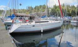 """Year: 1987 Price: $49,900 CAD Host Office: Sidney Location: Westport Marina Hull Material: fiberglass Engine/Fuel Type: Diesel Designer: Faroux Colour: white LOA: 34' 7"""" Beam: 11' 5"""" Displacement: 10361 lbs net Draft: 5' 11"""" Comments: Ultra clean boat -"""