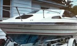 1987 19ft bayliner Capri with cuddy cabine. Willing to trade upto 22-24ft Very nice shape. 4cyl Volvo penta Includes a winter cover Call 519-817-4548 or 519-944-4548 No email please. This ad was posted with the Kijiji Classifieds app.