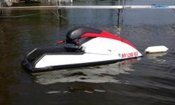 Very nice standup jet ski with fresh top end and new battery. Runs excellent, way more challenging and fun than sit down machines. Come take it for a ride and see for yourself.