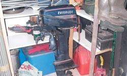 For Sale --- 1988  8hp evinrude outboard motor. Needs a new compression ring on one side but still in working condition.For more info call 224-0813