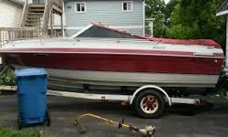 175 hp inboard/outboard motor good shape, Cabin Sleeps 2 adults comfortably Swim Deck with ladder Trailer included Please call: 613-256-9821 ask for Ted or Email: teddycranham1212@gmail.com