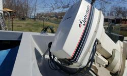 1988 Johnson Motor 40HP. Mint Condition, runs well. New Battery, New Gas Tank Blue & White