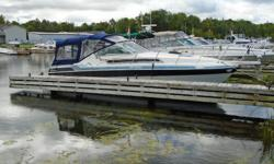"1988 Wellcraft 2800 Monte Carlo Express Cruiser Description: This older Wellcraft 2800 Monte Carlo Express Cruiser is in good condition for its age, it has lots of room on the aft deck/helm station area and in the cabin salon/kitchen and forward ""V"" berth"