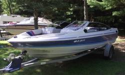 I have a 1989 Bayliner Bowrider/Trailer for sale in good condition. 2.3 litre Ford Colbra Engine with a OMC outdrive. New battery, New starter comes with travel cover, stereo (CD player) with marine speakers and Depth/Fish finder. Selling for 4,995.00.
