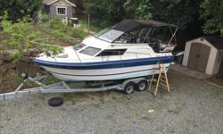 1989 Campion Haida 250 on 12000lb Easy Loader tandem axle trailer with flush kit. Upholstry is in great shape, full canvas top. Boat hasn't moved in four years but was running great when I parked it. Twin 4 cyl 460 175hp Mercruiser with new starters.