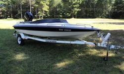 18' Scorpion ski boat for sale. c/w 1990 Mercury 115HP motor. Floor mounted ski bar. On board bow fuel tank. Overall good condition. Damage to hull needs repair. $3300 OBO. Winter project - not much work to repair for lots of fun  next summer! Northtrail