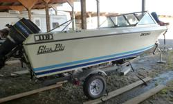 I have a 1989 Glasply Boat with an 80Hp motor for sale.  It was been well maintained serviced prior to usage each season.  Includes a 1999 trailer, boat, fish finder, Waterproof CD Player, Wakeboard, ski pole, flat tube, 2 skis, 2 ropes one for skiing and
