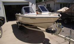 1989Swiftsure with 45 hp Mariner oil injected motor on shorelander trailer bimini top hummingbird fish finder 2 removable seats and a spare prop runs great