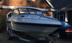Engine is 3.7L Lx Mercruiser Rated 190 Hp With alpha one mercury leg and stainless prop Runs Great hull in great shape interior also in great shape upholstery could use some upgrading trailer bearings recently serviced Open To Offers Call Or Text