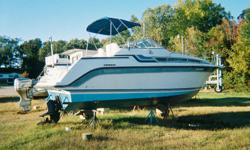 BUY NOW AND SAVE.1990 CARVER MONTEGO 26 FT EQUIPED WITH BEST OF THE BEST 5.7 LITRE VOLVO DUAL PROP,STOVE,SINK,SHOWER,FRIDGE,ETC.... THIS IS A WIDE BEAM BOAT,WITH AFT CABIN SLEEPS 6  (you can buy this carver for less than most people pay for a