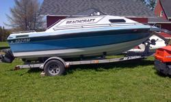 1990 beach craft 19ft Cuddy cabin V-6 motor . EZ loader trailer . Boat was in storage for over 20 years up until 3 years ago .$3900 possible interesting trades