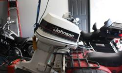 Boat motor in great condition. 1990 Johnson. Used a few times / summer. Controls, powertrim, oil injected, can be seen running. 90 hp. $1950.00 Email or call 519-869-4858   I've been offered some very low offers. Definitley not interested. I can wait