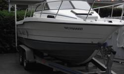 1991 Bayliner Trophy model 2002 WA This is a 20? walk around cuddy cabin. I bought this boat for my charter business and I have decided it does not fit my needs. This a good solid boat The main engine is a 1995 Johnson 175hp ?Ocean Runner? (that?s the