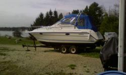 Splish Splash is now Shrink Wrapped and Winterized, but can still be seen inside! The Boat Speaks for itself must be seen, call 902-531-2723. New Full top Last year, Rag Top, Stereo through out, Kitchen, Head,back platform shower,No Radar or Engine Hours