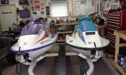Now with trailer!!! WILL SELL SEPERATELY! MAKE ME AN OFFER!! Looking to part ways with the following PWC. Both have had full top end rebuilds in the past 5 years. Great starter watercraft! Both run like a banshee! (Blue one) 1992 Seadoo SPI