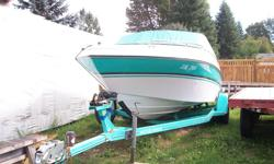 1993 19 1/2 Four Winns brand new rebuilt 351 W inboard outboard, only 10 hours logged on so far. Mint condition. I have all the original manuals. Seats 7 or 8. Factory trailer matches the boat. Comes with skis, tubes and brand new anchor.