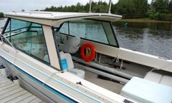 Enclosed cabin,Cuddy, Canopy, Bow Pulpit, Anchor. 7.4 Liter Bravo Drive, Power Steering and Trim. Swim Platform and Ladder, Stereo, Depth Sounder,Compass, VHF. Tandem Shore Land?R Trailer Also have complete shop manuals - Excellent Condition. $12,300.