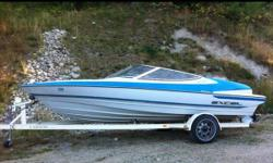 20ft bow rider,this boat is in mint shape,4 cylinder volvo penta,,runs perfect,lots of storage and seats 8 and will still have enough power to pull up a wakeboard or skis when the boat is packed,,the boat was owned by a 70 year old man up until july when