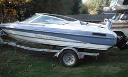 Must see, 4.3L merCruiser with 400 hours. Full Canopy rarely used, like new. High 5 stainless prop. Comes with skis and rope, lifejackets, oars and tubes. Turn key ready to go. Serviced every season and kept undercover. Has Alpine stereo with Kenwood amp.