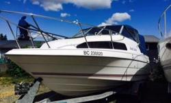 4.3 V6 CLOSED COOLING AND A YAMAHA 8HP KICKER WITH 20 HOURS COMES WITH TRAILER, PORTA POTTY, DOWNRIGERS, CRAB PULLER, LIFE JACKETS, ANCHOR AND FISH FINDER WILLING TO SELL WITHOUT THE KICKER FOR $17,000 WILLING TO KNOCK MORE MONEY OFF THE SELLING PRICE IF